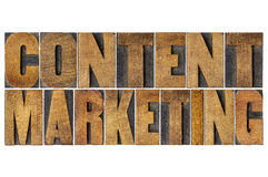 Content marketing word abstract Stock Image