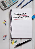 Content marketing word on notebook Stock Photo