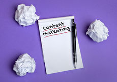 Content marketing word Royalty Free Stock Photos