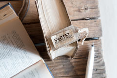 Content Marketing word. Stock Image