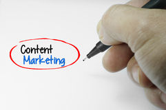 Content Marketing Word Stock Photos