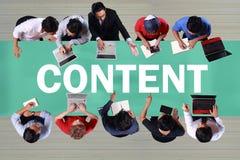 Content, Motivational Internet Social Media Words Quotes Concept. Content, internet social media motivation inspirational quotes, words typography lettering royalty free stock image