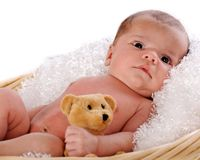 Content Newborn Royalty Free Stock Images