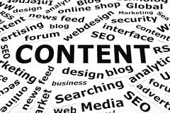 Content Paper Words Concept Royalty Free Stock Image