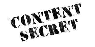 Content Secret rubber stamp Royalty Free Stock Photo
