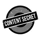 Content Secret rubber stamp Stock Image