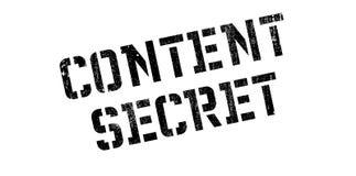 Content Secret rubber stamp Stock Images