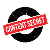Content Secret rubber stamp Royalty Free Stock Image