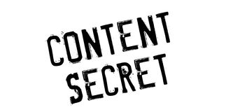 Content Secret rubber stamp Stock Photos