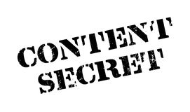 Content Secret rubber stamp Stock Photography