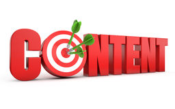 Content seo target Royalty Free Stock Photography