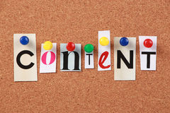 Content Single Word Stock Images