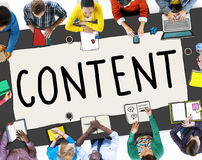 Content Social Media Networking Connection Concept Royalty Free Stock Images