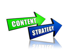 Content strategy in arrows Stock Photography