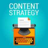 Content strategy seo marketing blog  search engine optimization. Concept vector Stock Images