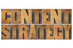 Content strategy word abstract Stock Photography