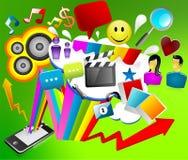 content symbolsiphone för Apple-dator Fotografering för Bildbyråer