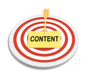 Content targeting Royalty Free Stock Image