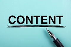 Content Stock Image
