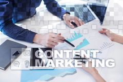 Content text on virtual screen. Business technology and internet concept. Content text on virtual screen. Business technology and internet concept Royalty Free Stock Photos