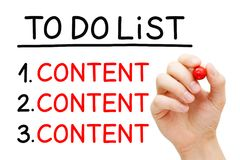Content To Do List Concept Royalty Free Stock Photo