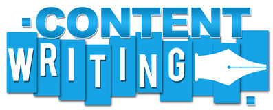Content Writing Blue Stripes Stock Photography