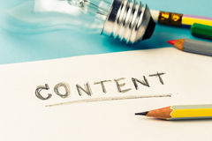 Content writing Stock Photography