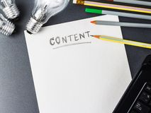 Content writing Royalty Free Stock Photos