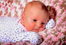 Contented Newborn Stock Photos