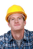 Contented tradesman Stock Photography