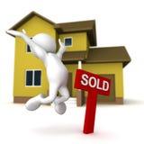 Contentissimo alla vendita Immagine Stock