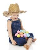 Contentissimo con le uova Immagine Stock Libera da Diritti