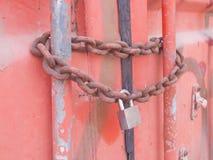 Contentor Chain do fechamento Imagens de Stock