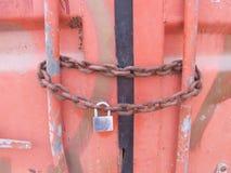 Contentor Chain do fechamento Foto de Stock Royalty Free