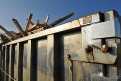 Contentor da construção Foto de Stock Royalty Free