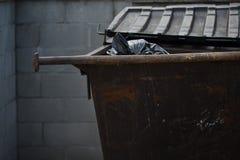 Contentor do lixo Fotografia de Stock Royalty Free