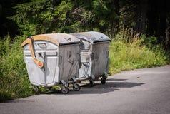 Contentores do lixo Foto de Stock