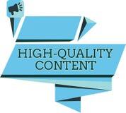Contenu de haute qualité des textes d'écriture Le site Web de signification de concept est s'engager instructif utile à l'assista illustration libre de droits