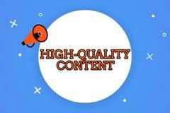Contenu de haute qualité des textes d'écriture de Word Le concept d'affaires pour le site Web est s'engager instructif utile à l' illustration libre de droits