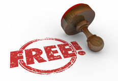 Contenu rond rouge gratuit de bonification de Word de timbre illustration libre de droits