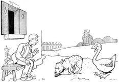 contes de la chèvre noire-30 Stock Photo