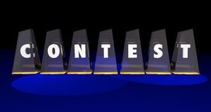 Contest Awards Competition Enter Win Word Letters Royalty Free Stock Images