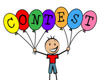 Contest Balloons Means Kids Challenge And Competitiveness Stock Image
