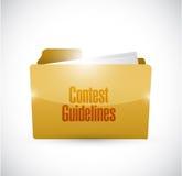 Contest guidelines folder illustration design Royalty Free Stock Images