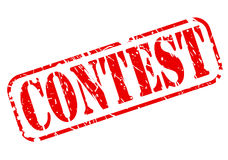 Contest red stamp text Stock Image