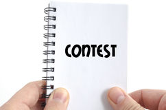 Contest text concept Royalty Free Stock Photo