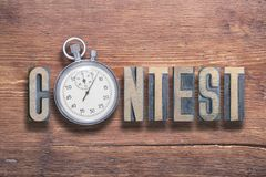 Free Contest Watch Wooden Royalty Free Stock Photos - 120760228