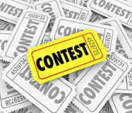 Contest Word Ticket Pile Win Raffle Fund Raiser Prize Drawing Stock Photos