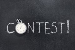 Free Contest Word Watch Royalty Free Stock Photo - 100550125
