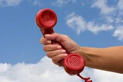 Contestación del teléfono Foto de archivo libre de regalías